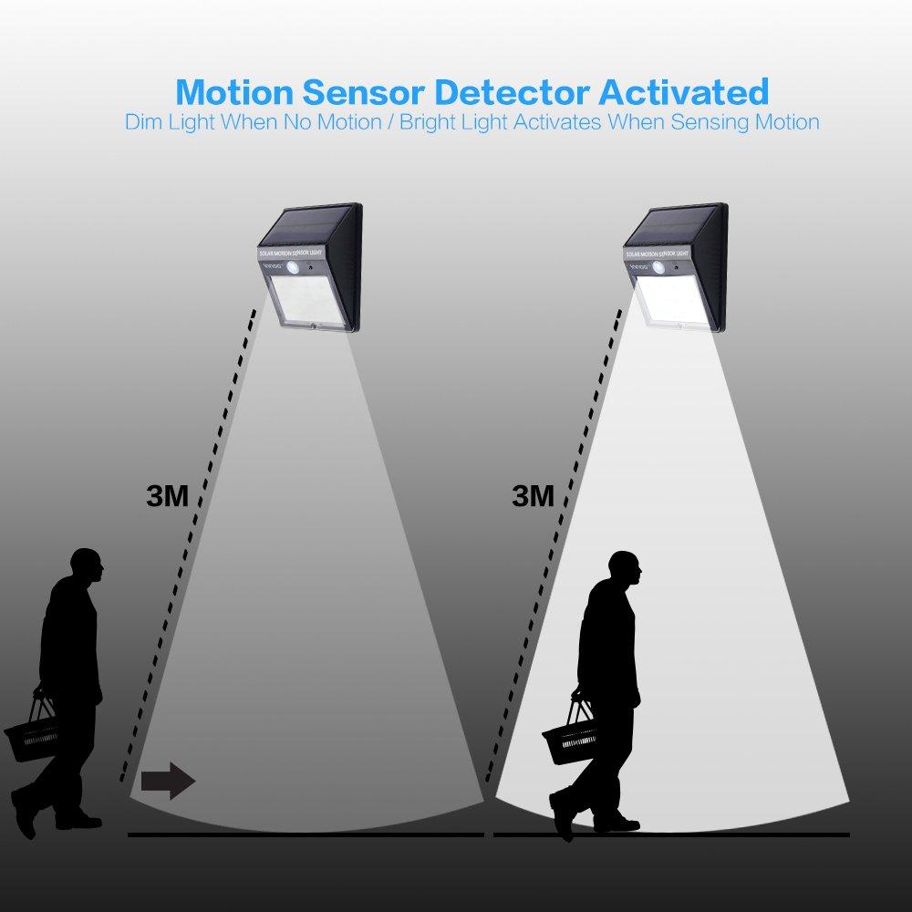 innoo tech solar motion sensor light solar powered water resistant
