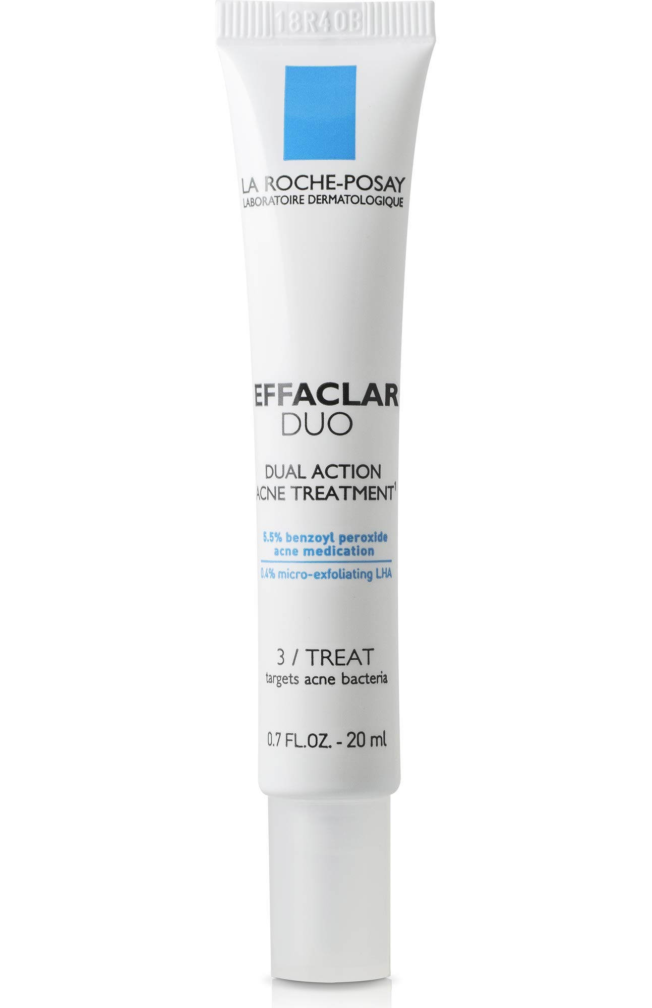 La Roche-Posay Effaclar Duo Dual Action Acne Spot Treatment Cream with Benzoyl Peroxide, 0.67 Fl oz