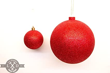 Amazon.com: shiny red glitter christmas ball ornaments 2in 8inch