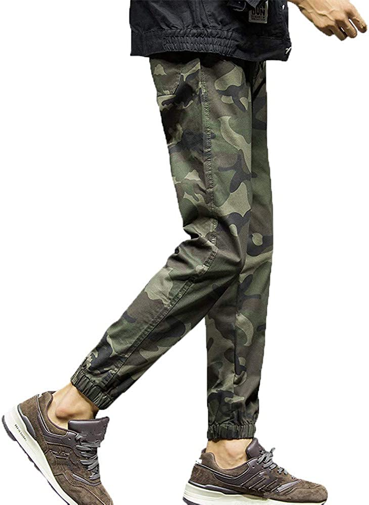 Mens Fashion Camouflage Nine Points Small Feet Looser Casual Pant Zoilmxmen Mens Camouflage Tracksuit Bottoms