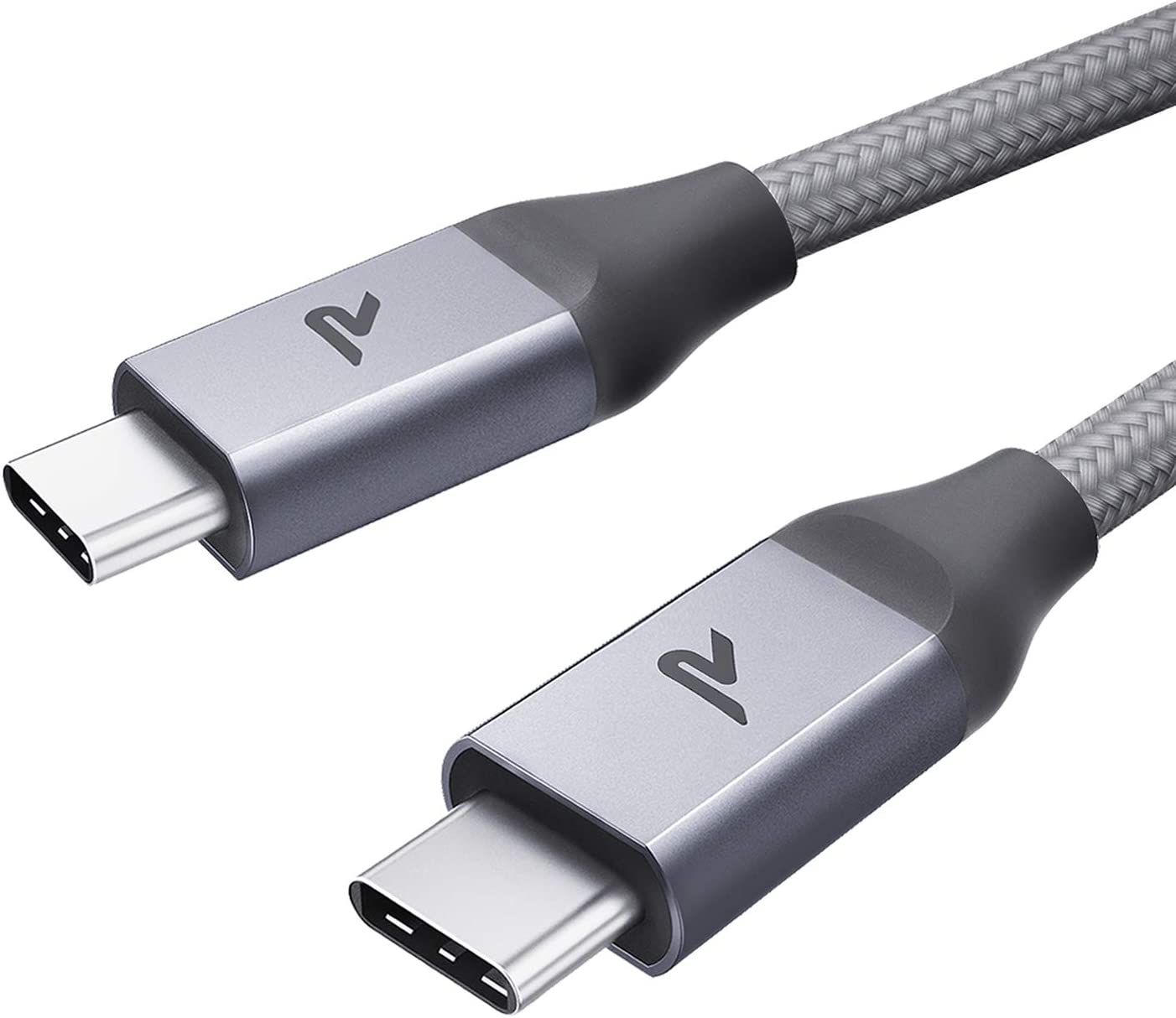 RAMPOW Cable USB C a USB C [20V/3A 60W] 2M Cable Tipo C a Tipo C con Power Delivery Compatible para Macbook Pro 2016/2017, ChromeBook Pixel/Pixel 2, Samsung S9/S8/Note 8, Nintendo Switch-Gris