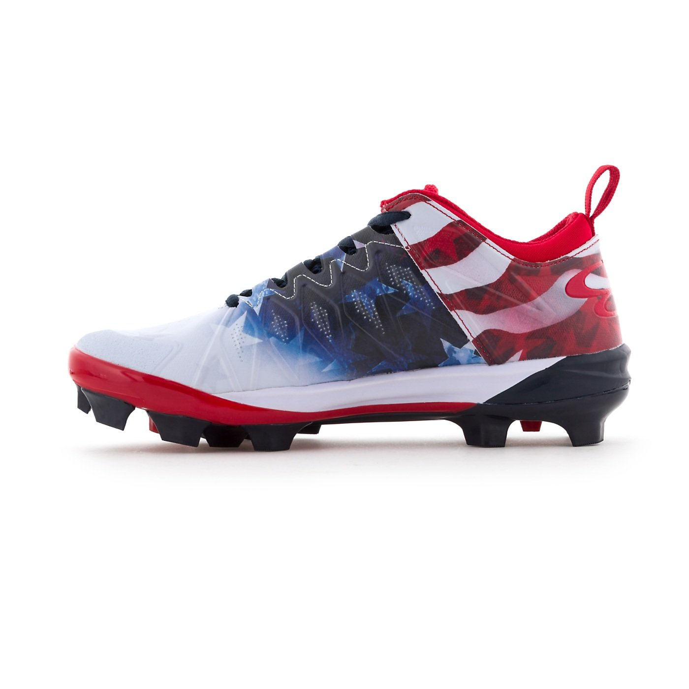 Boombah Women's Squadron Flag Molded Cleats Royal Blue/Red/White - Size 9.5 by Boombah (Image #4)
