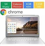 Newest HP 14-inch Chromebook HD SVA (1366 x 768) Display, Intel Dual Core Celeron N2840 2.16GHz, 4GB DD3L RAM, 16GB eMMc Hard Drive, Bluetooth, HDMI, Stereo speakers, HD Webcam, Google Chrome OS