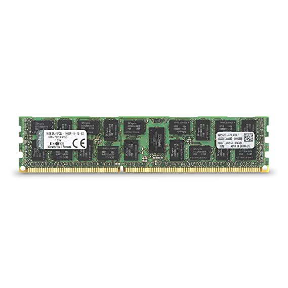 Kingston KTH-PL313LV/16G 16GB 1333MHz DDR3 PC3-10600 ECC Low Voltage DIMM for Select HP/Compaq Server Components at amazon