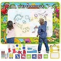 GoZheec Aqua Magic Doodle Mat, waterdoodle tekenmat voor kinderen, herbruikbaar, 160 x 120 cm