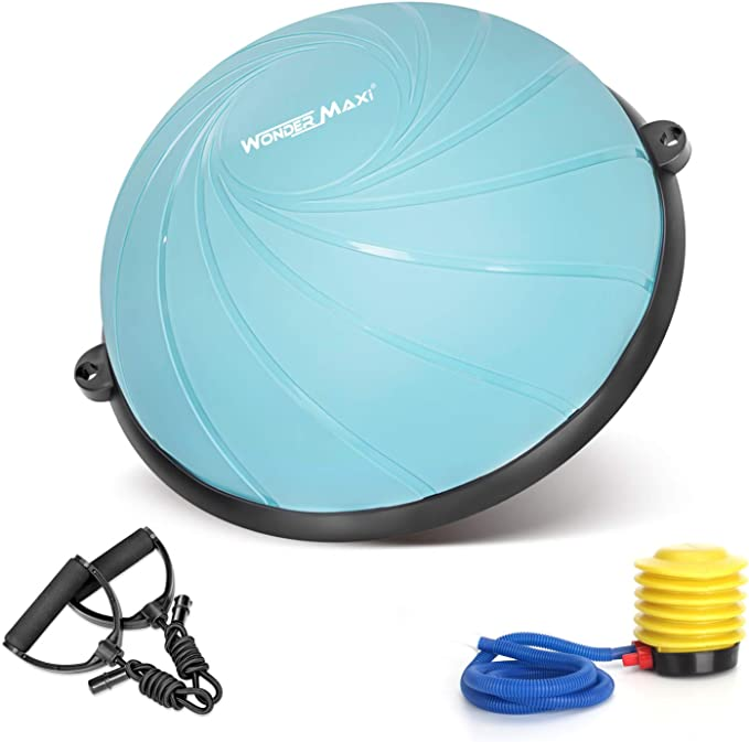 METIS Balance TrainerSTABILITY BALL Resistance Bands /& Pump Home//Gym
