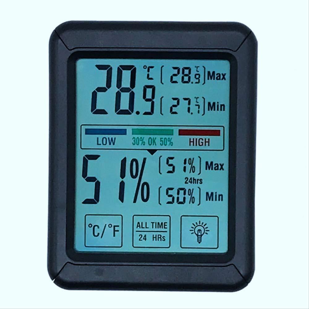 Touch Screen contatore temperatura e umidit/à mostra digitale casa ufficio interno ed esterno termometro elettronico misuratore umidit/à
