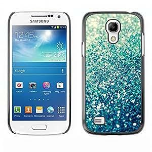 For SAMSUNG Galaxy S4 mini VERSION! / i9190 / i9192 Case , Sparkle Summer Sun Abstract Bling - Diseño Patrón Teléfono Caso Cubierta Case Bumper Duro Protección Case Cover Funda