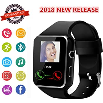 Smartwatch, Bluetooth Smart Watch Phone with SIM Card Slot Pedometer Camera Notification Sync Compatible with Android and iPhone (App Unavailable) for Men ...