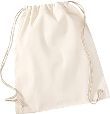 Gymsac mochila molinillo de Westford algodón con cordón ajustable y algodón patrones de costura bolsas de cierre de: Amazon.es: Ropa y accesorios