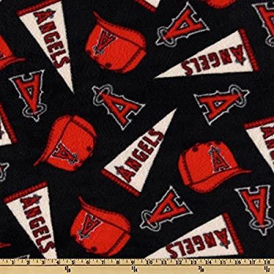 MLB Fleece Los Angeles Angels of Anaheim Toss Red/White/Blue Fabric By The Yard
