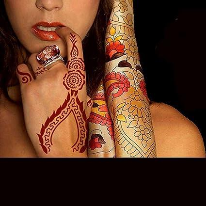 Henna - Plantilla para tatuaje de mano (estilo árabe, estilo indio ...