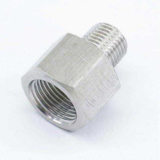 Maslin 304 - Adaptador de tubo de acero inoxidable (3/8