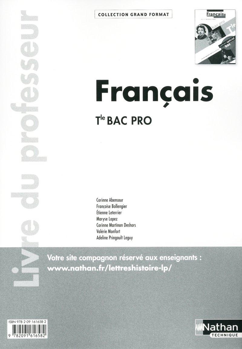 Francais Tle Bac Pro Livre Du Professeur Thomas Bergeret