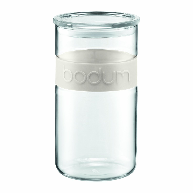 Bodum - 11130-01 - Presso - Tarro de cristal con tapa - cinta de silicona - 2, 0 l - color negro
