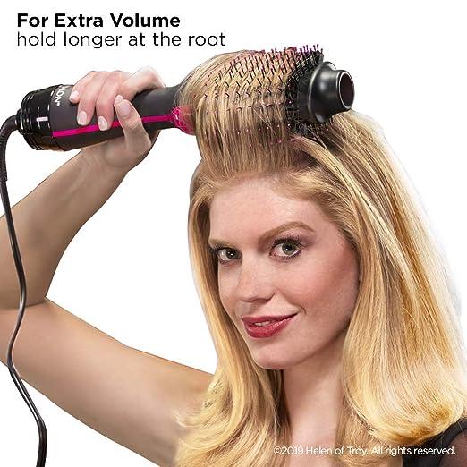 Enderezar el secador y el volumen de pelo del secador del pelo recto de cerámica del cepillo del pelo recto de la calefacción: Amazon.es: Belleza