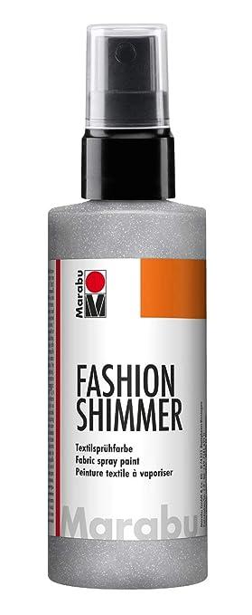 Marabu 17180050581 - Fashion Shimmer, Textilsprühfarbe auf Wasserbasis, für dunkle Textilien, einfache Fixierung, waschbestän