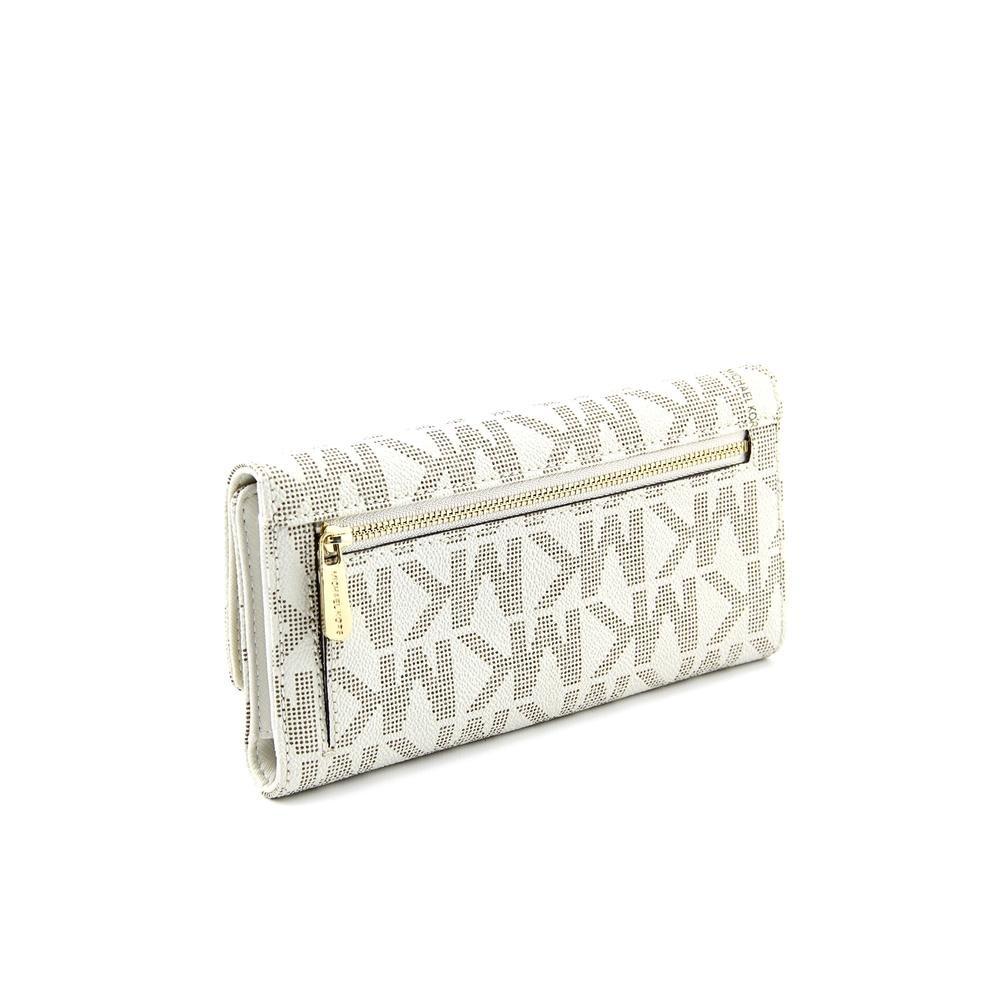 39a98efd0daf12 Amazon.com: Michael Michael Kors Womens Mk Jet Set Checkbook Wallet: Michael  Kors: Shoes