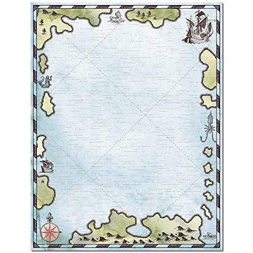 Treasure Map Letterhead Laser & Inkjet Printer Paper, 100 pack