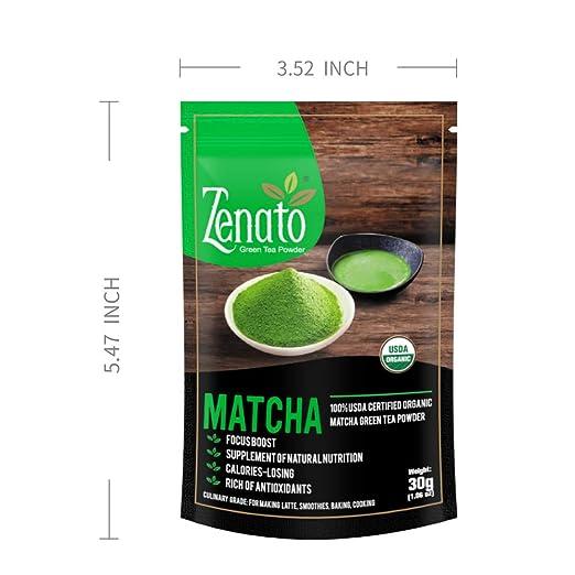 Zenato Matcha Polvo de té verde culinario 100% USDA orgánico ...