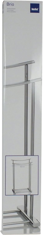 kela 21529 Brio toallero de Metal Cromado con 2 Barras