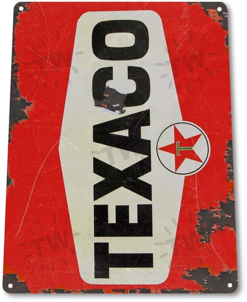 AVCX TIN Sign A644 Texaco Red Rt Oil Gas Station Car Service Auto Shop Garage Rtic Metal Decor Gifts & Merchandise