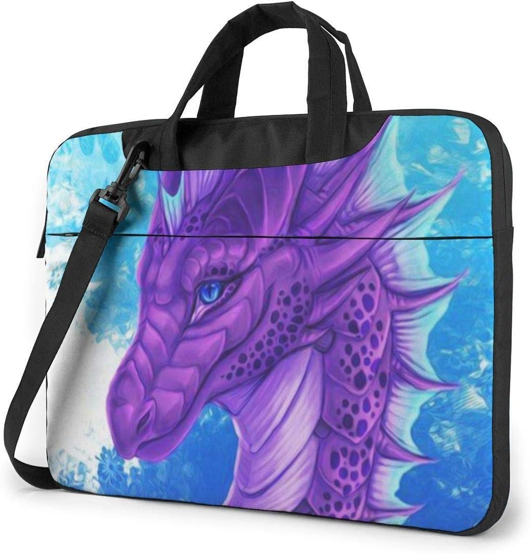 15.6″Durable Hombro Mensajero Bolsa maletín PC Dragón púrpura Moda Impermeable Ordenador Portátil/portátil/Tablets