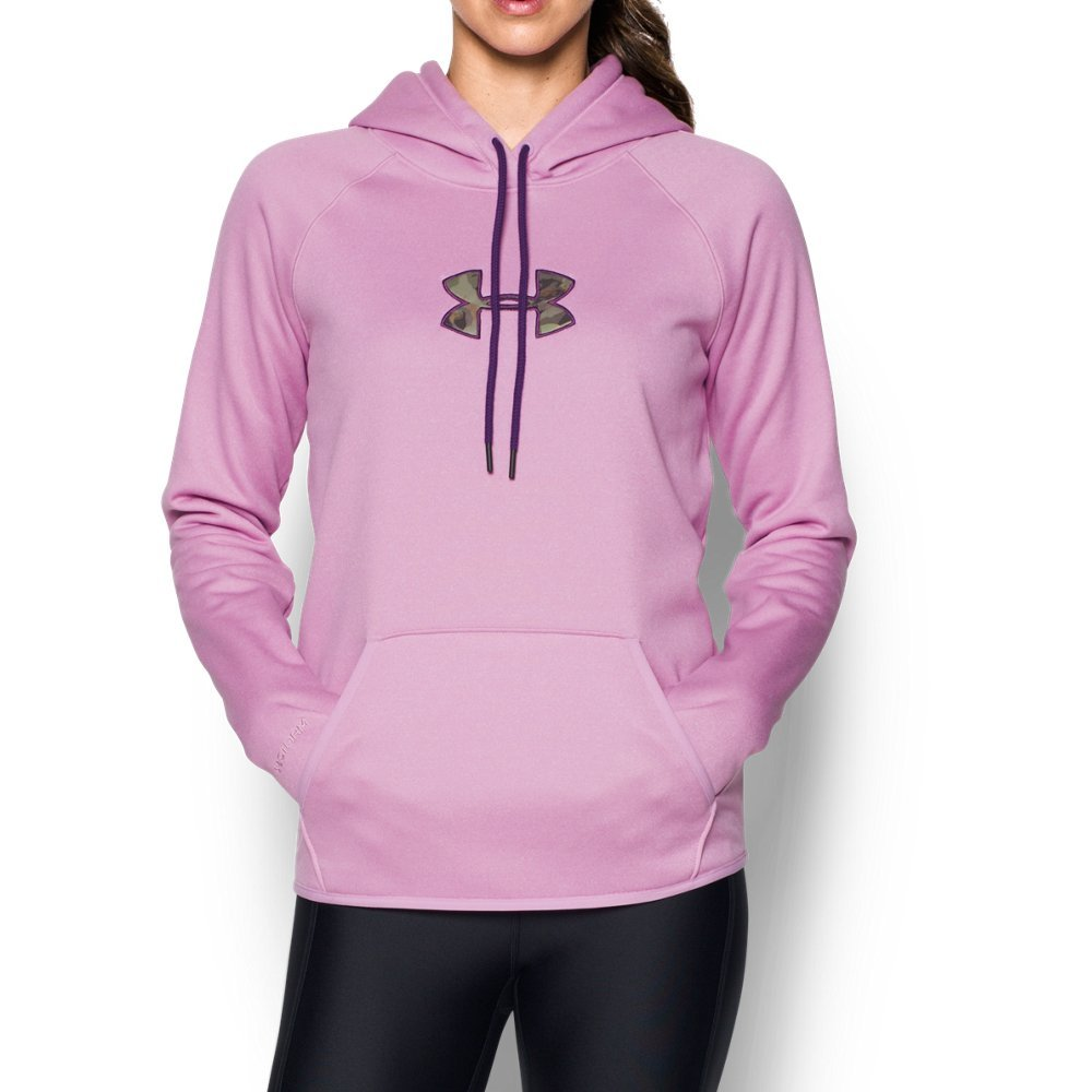 Under Armour Women's Icon Caliber Hoodie,Icelandic Rose (924), Large