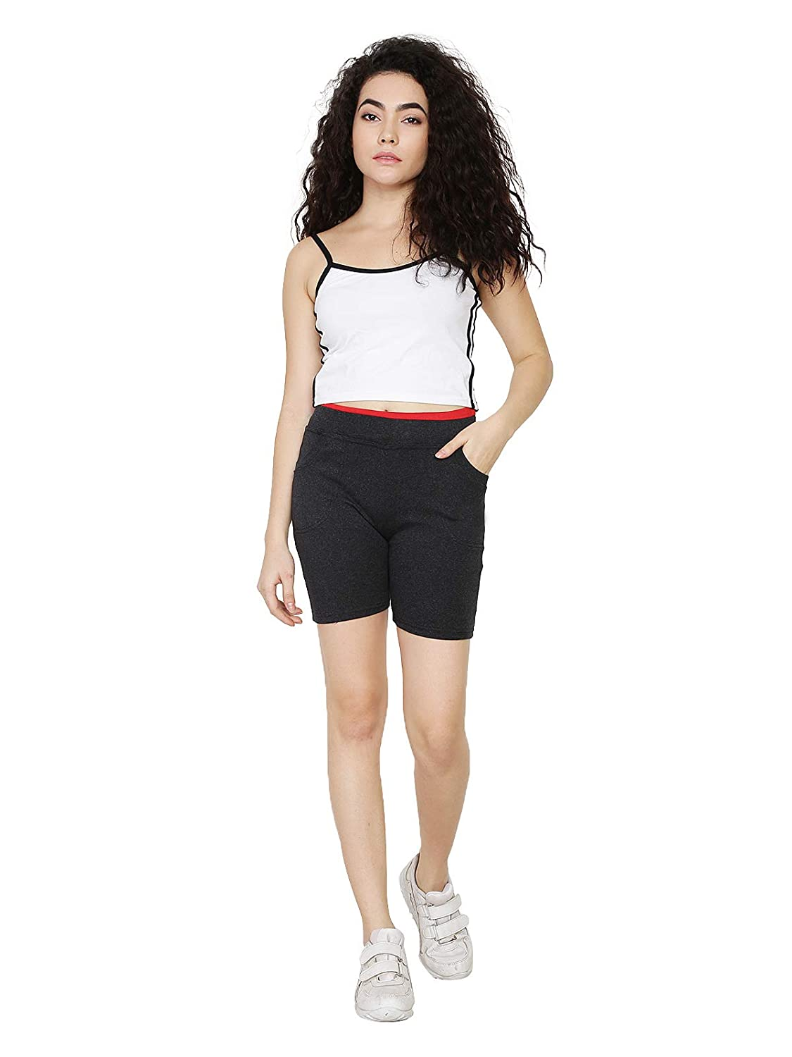 Buy waooo Short Pants| Half Pants for Women Girls | Shorts for Cycling,  Gym, Yoga, Size (Free Size) Black at Amazon.in