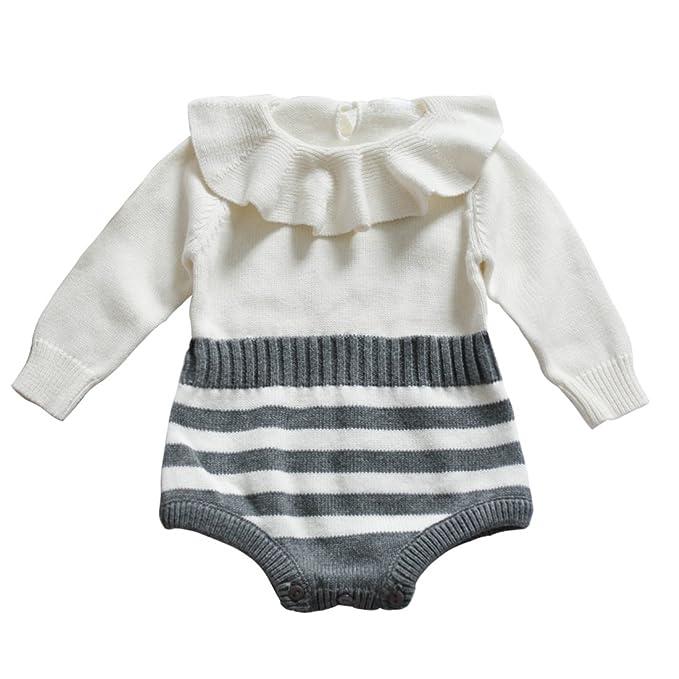 d2080a517 ... Mono de Tejido Punto Recien Nacido. Funnycokid - Pelele - para bebé niña  Grau-1  Amazon.es  Ropa