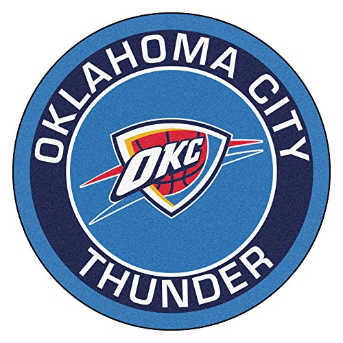 FANMATS 18846 NBA Oklahoma City Thunder Roundel Mat (Okc Rugs Area)