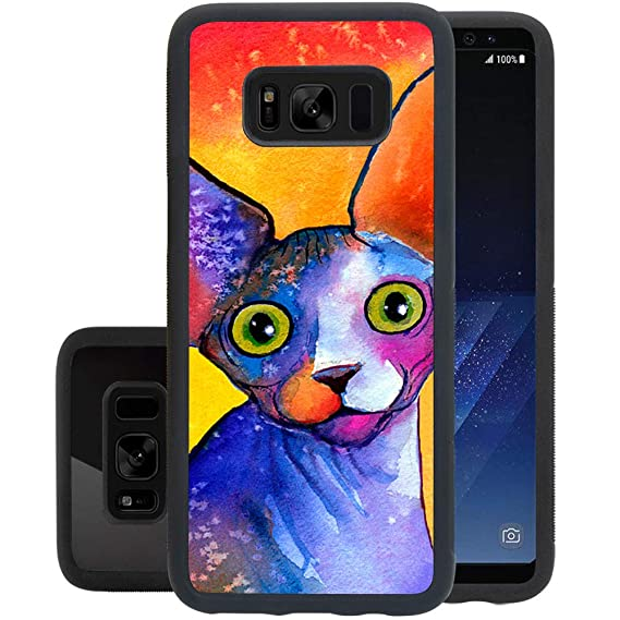 check out 56705 6dc7c Amazon.com: Case for Samsung Galaxy S8 case Canadian Hairless Cat ...