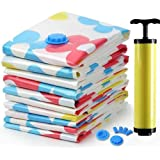Mopslik Plastic Vacuum Storage Bags Variety Pack 2 x Small, 2 x Medium, 1 x Large Different Size Space Saver Bag, with Hand Pump for Travel