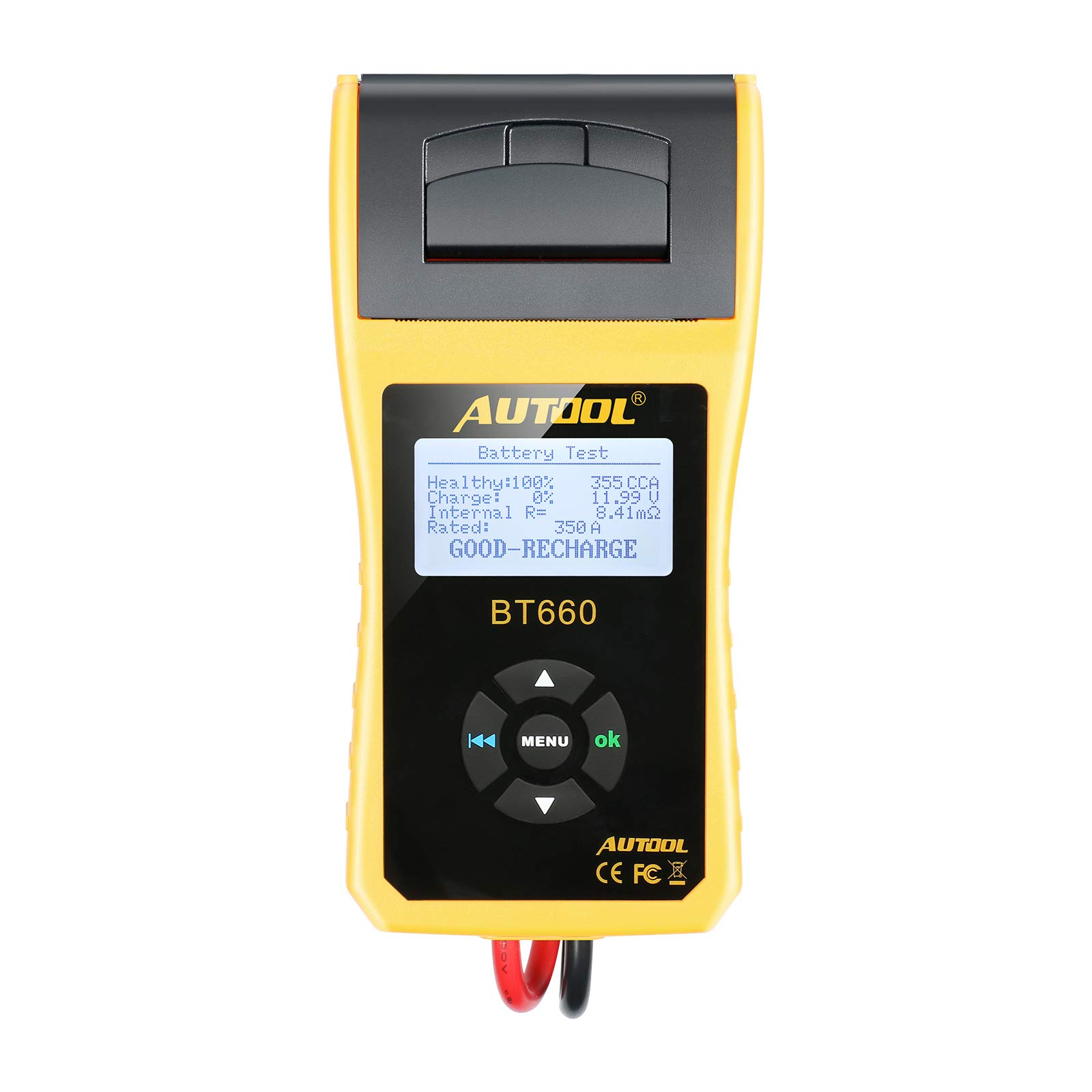 AUTOOL BT660 Battery Conductance Tester 12V/24V BT-660 Auto Battery Testers Automotive Diagnostic Tools for Heavy Duty Trucks, Light Duty Truck, Cars by AUTOOL (Image #2)
