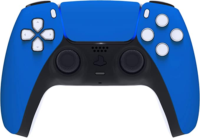 EXtremeRate Blue Touchpad Front Housing Shell for PS5 Controller, Soft Touch DIY Replacement Shell for DualSense 5 Controller, Custom Touch Pad Cover Faceplate for Playstation 5 Controller | Amazon