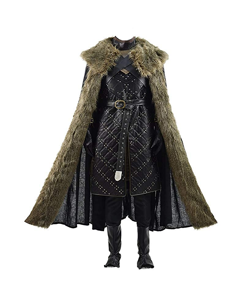 Men's Vintage Style Suits, Classic Suits Mens Knight Snow Jon Cosplay Leather Armor Deluxe Handmade Outfit Halloween Costume $294.49 AT vintagedancer.com