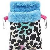 Eleusine Hamster Hammock Bed Soft Warm Velvet Pet Bird Rat Hanging Bed Basket House Nest Toy Bedding for Small Animals (Style 2)