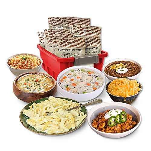 Patriot Pantry Emergency Meals Kit, 48 Emergency Food Servings, up to 25-Year Shelf Life (Servings Emergency Food)