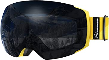 OutdoorMaster Ski Goggles PRO - Frameless, Interchangeable Lens 100% UV400 Protection Snow Goggles for Men & Women