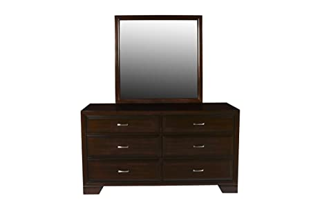 New Classic Furniture 00-143-060 Garrett Bedroom Mirror, Chestnut