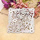 Flower Metal Cutting Dies for Card Making, NOMSOCR Carbon Steel Paper Cutting Card Template Mould for DIY Scrapbook Embossing Album Paper Card Craft Birthday Decoration (Flower)
