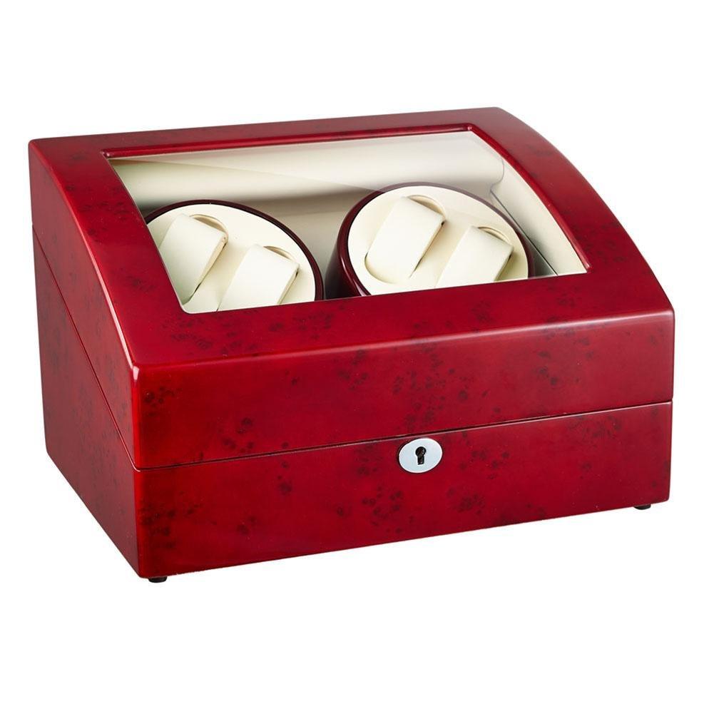 KAIHE-BOX Bois Watch winder Remontoir silencieux pour 4+6 montre automatique avec rotation droite & gauche moteur ultrasilencieux,WB08 , #31