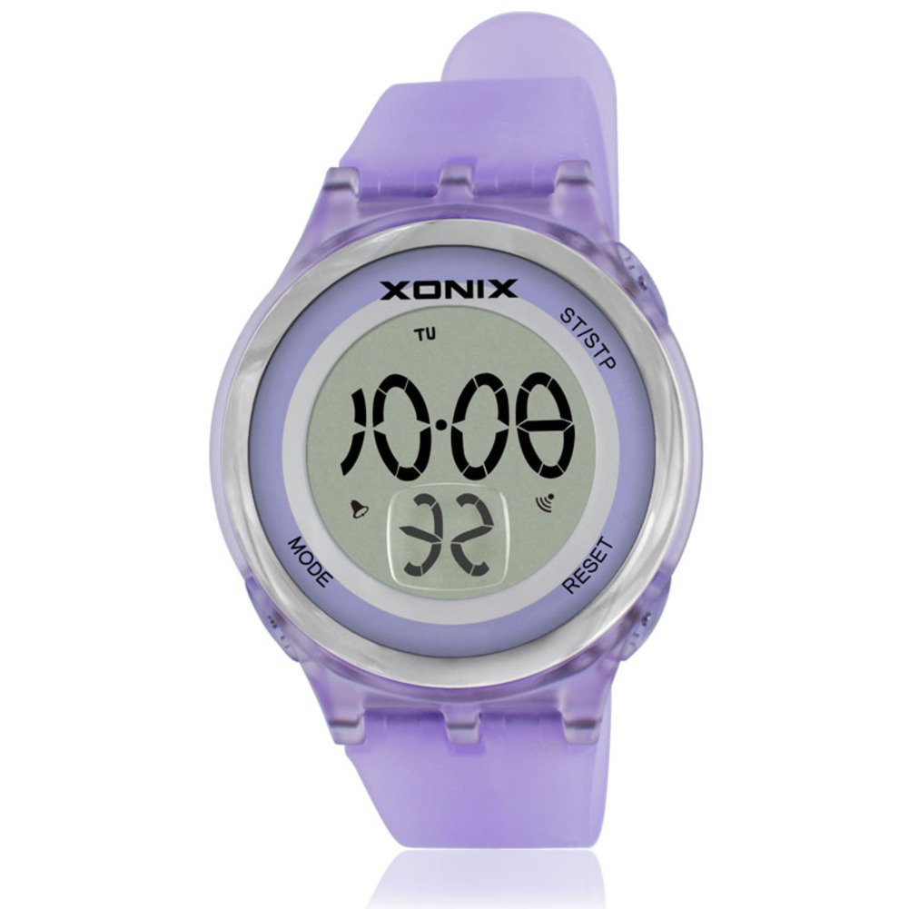Girl's or boy's unique fashion multi-function sports watch, Jelly digital electronic Led 30 m waterproof alarm stopwatch children's wristwatch-G