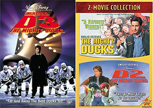 Disney Hockey Series 1 / 2 / 3 The Mighty Ducks Movie Trilogy Team Bundle action Family Fun Triple feature Collection ()