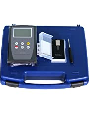 Digital LCD Surface Roughness Tester LCD Backlight Display SRT-6100 Surface Roughness Measurement Instrument Diamond Probe 0.05~10.00µm Ra 0.1~50.0µm Rz Color Black