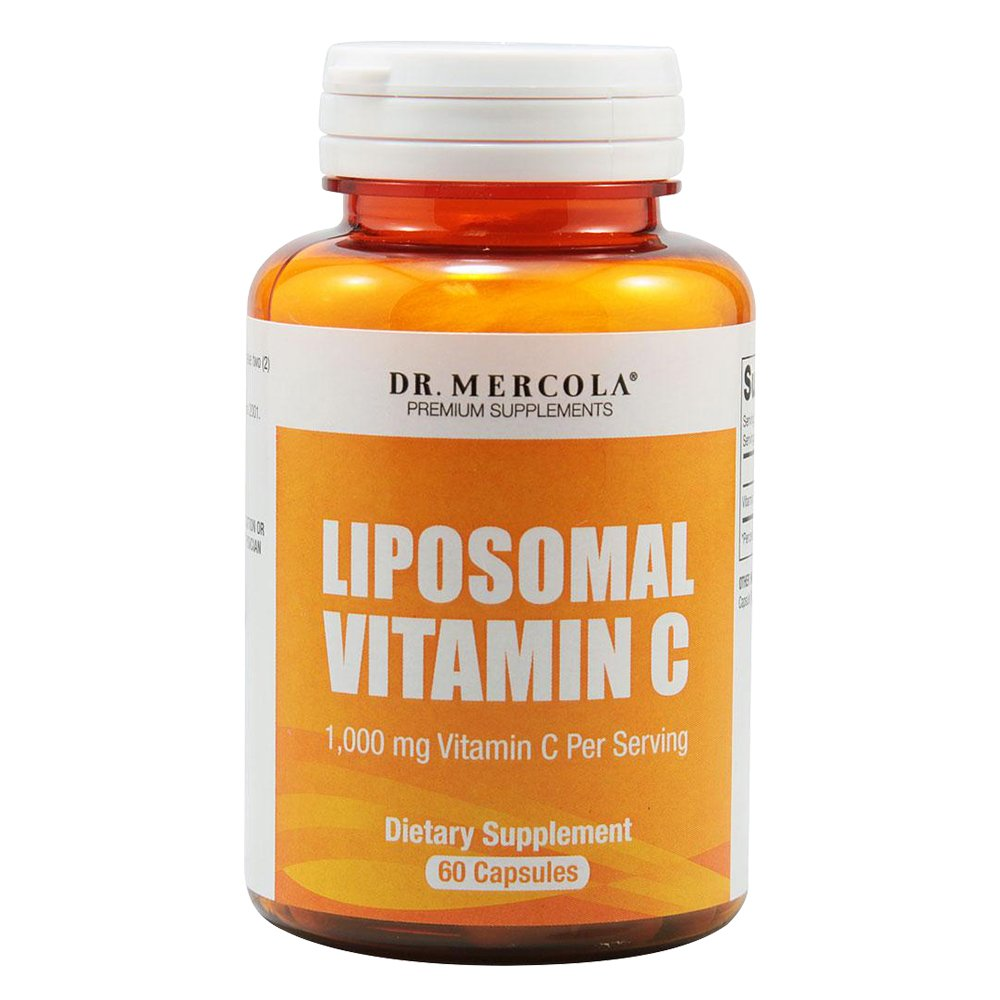 Dr. Mercola Liposomal Vitamin C 1,000mg per Serving - 60 Capsules - 30 Servings - Antioxidant Supplement with Higher Bioavailability Potential & Immune System Support