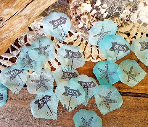 Beach Wedding Centerpieces - Silk Flower Petals, Beach Aqua Wedding Table Decorations, Handmade Silk Rose Petals for Wedding Beach Party Flower Girl, 100 Pieces