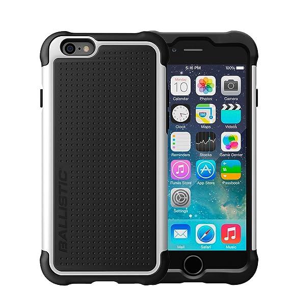 huge selection of 55597 7675b for iPhone 6 Plus Case, for iPhone 6s Plus Case, Ballistic [Tough Jacket]  Black/White [Ultra Slim][Heavy Duty][Shockproof][Flexible Corners][Drop ...