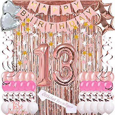 Fabulous 13Th Birthday Decorations For Girls 13 Years Old Girl Party Funny Birthday Cards Online Alyptdamsfinfo