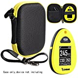 CaseSack Protective Case for Golf GPS, Specially Designed for IZZO Swami 4000+ Golf GPS, and Swami 4000, Swami 5000 Golf GPS Rangefinder; Garmin Approach G30, G6, G7 (Black with Yellow zip)